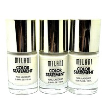 Lot of 3 New Milani Color Statement Nail Lacquer Polish White French Tip... - $7.69