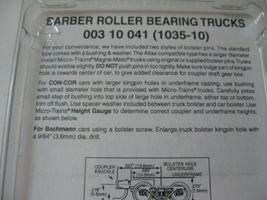 Micro-Trains Stock #00310041  (1035-10) Roller Bearing Trucks Short Couplers image 3
