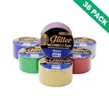 Gold Glitter Tape, Fancy Adhesive Glitter Decorative Tape - Box Of 36 - $62.89
