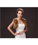 Modest Brown Fur Winter Wedding Jacktes,Coat For Bridal , Short Wedding ... - $23.99
