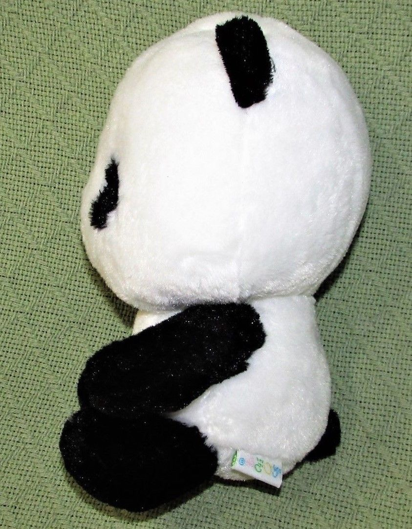 "ANIME PANDA Plush Japanese Stuffed Animal DOll Toy Black White RED BOW 9"" Baby  image 8"