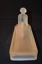 Art Deco Frosted Depression Satin Glass Figurine Nude Maiden Desk Paperw... - $99.99