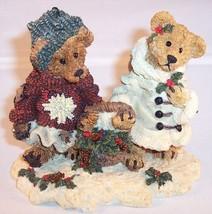 Boyds Bears & Friends Edmund & Bailey Gathering Holly Figurine, Style #2240 - $5.99