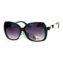 Womens Square Frame Sunglasses Classy Pearl Ribbon Design UV 400 - $12.95