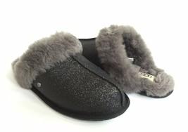 Ugg Scuffette Ii Sparkle Black Wool Shearling Lined Slipper Us 11 / Eu 42 / Uk 9 - $73.87