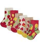 Jonathan Adler Baby Girls' 6 Pack Ankle Sock Box Set (Baby) - Multicolor... - $31.47