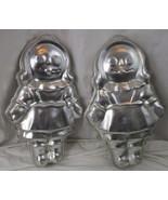 """Set Of 2 Wilton Raggedy Ann Aluminum 16"""" Cake Pan Mold Vintage 1971 502-968 - $9.89"""