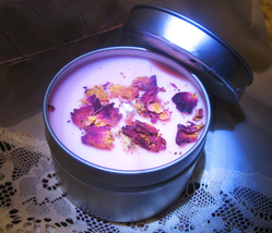 Haunted Full Coven Cast Bring Forth Love Candle Cherry Blossom Rose Magick - $35.00