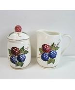 Vintage Knott's Berry Farm Theme Park CA Boysenberry Cream and Sugar wit... - $9.50
