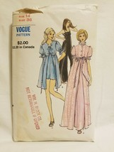Vogue Sewing Pattern 8186 Vintage 1970s Baby Doll Pajamas PJs AS IS - $12.86