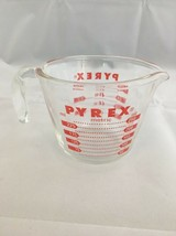 Vintage PYREX 2 Cup Measuring Cup W/Red Lettering No Metric Measurements... - $7.84