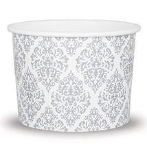 Elegant Silver Paper Dessert Cups - 12 oz Holiday Ice Cream Bowls - Silv... - $29.64