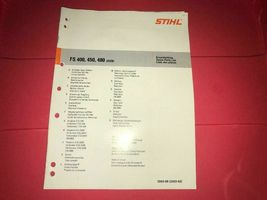 FS 400, 450, 480 Genuine Stihl BrushCutter Brush Cutter Parts List Manual - $12.99