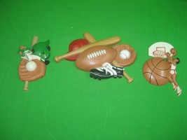 Vintage Lot of Three (3) Burwood Children's Sports Themed Wall Plaques - $15.85