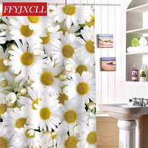 Eco-Friendly Waterproof Fabric Polyester Shower Curtain Mildew Home Chrysanthemu - $42.21