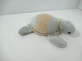 Goffa International plush bean bag turtle gray tan stuffed animal - $6.92