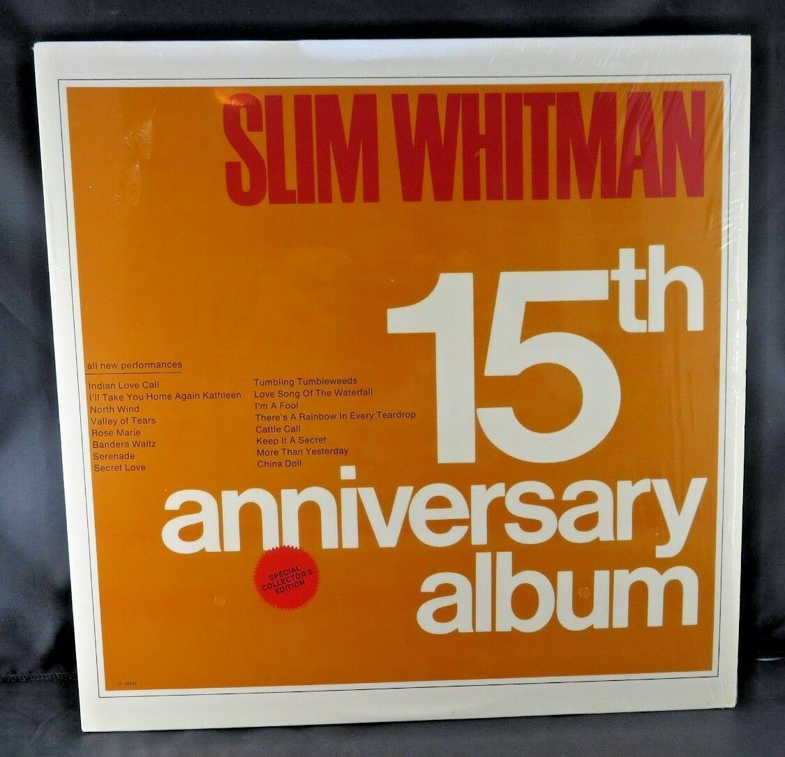 "Primary image for Slim Whitman 15th Anniversary Album 12"" Vinyl LP Special Collector's Edition"