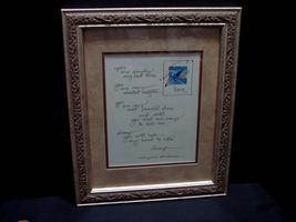 "Mary Anne Radmacher Calligraphy Print ,  Love, You Simply ...""Gilt Frame... - $15.99"