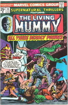 Supernatural Thrillers Comic Book #14 The Mummy Marvel Comics 1975 VERY FINE- - $14.49