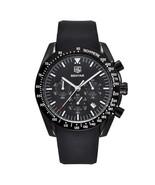 Benyar Men's Silicone Quartz Chronograph Wrist Watch BY-5120M (Black) - $43.00