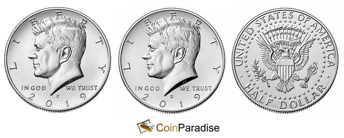 2019 P and D  BU Kennedy Half Dollar from US Mint Roll CP2447