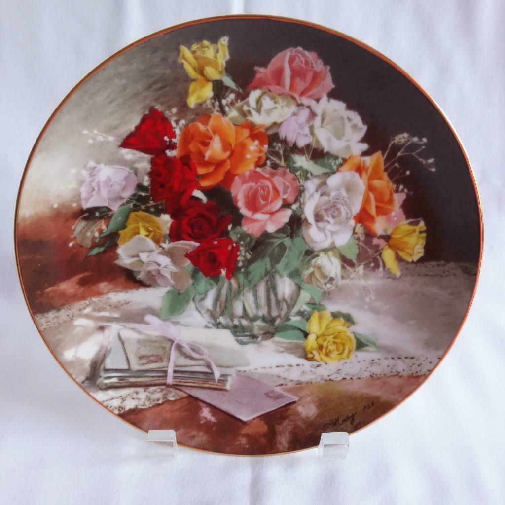 Primary image for Vintage 1988 W.J.George Roses 1st Issue Flowers of Your Garden Collector Plate
