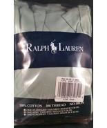 Vintage Polo Ralph Lauren King Pillow Sham Ruffled Green Cotton Pillowca... - $19.79