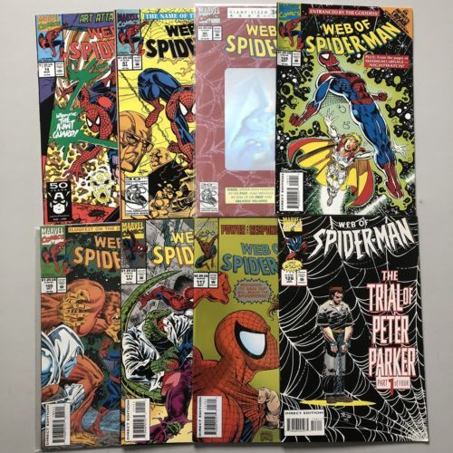 Lot of 16 Web of Spider-Man (1985 1st Series) from #29-126