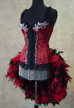 Pick Size-Red & Black Brocade and Lace Moulin Burlesque Costume Showgirl... - $189.99