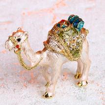 Vintage Handmade Printing Gold Camel Trinket Ring Box Jewelry Box Weddin... - €21,68 EUR+