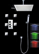 "Cascada Luxury Bathroom Shower Set with Luxury 16"" Water Power LED Shower Head ( - $821.65"