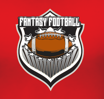 Fantasy Football Team Sports Style Graphic T Shirt Black Red White L XL 2XL