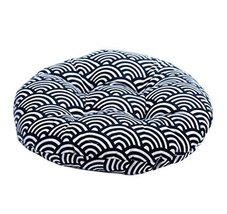 "Japanese Style Linen Yoga Bolster Tatami Floor Round Cushion(Waves,17"") - $19.99"