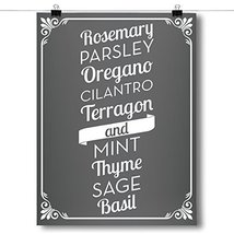 Inspired Posters Herb List - Kitchen Poster Size 18x24 - $12.74