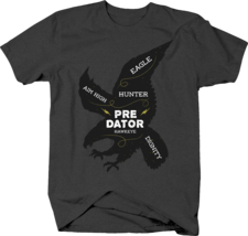 Hawk Word Art Aim High Hunter Predator Hawkeye Dignity Tshirt - $12.75+