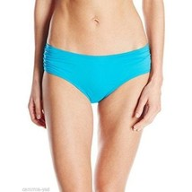 Coco Reef Sea Blue Hipster Side Shirred Bikini Bottoms Small Lined - $14.84