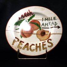 Sakura Farmstand Fruit Stoneware Salad Plate, Peaches by David Carter Brown - $5.00