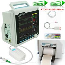 Capnograph Patient Monitor ETCO2+6 Parameters+Printer+2 IBP Vital Signs ... - $731.61