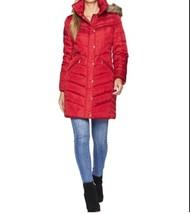 Michael Kors Church Women's Winter Outerwear Down hooded parka coat Red size XL - $237.59