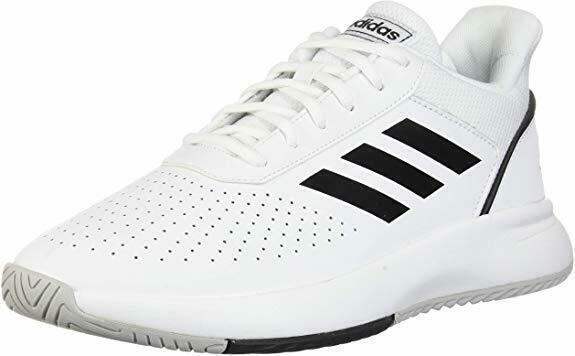Nuevo Adidas Hombre Blanco / Negro Courtsmash Tribunal Smash Atlético Tenis NWOB