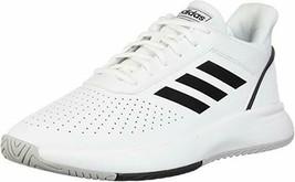 Nuevo Adidas Hombre Blanco / Negro Courtsmash Tribunal Smash Atlético Te... - $29.07