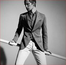 new MASSIMO DUTTI men suit jacket blazer 2016/306/802 Italy grey sz 44 $165 - $79.19