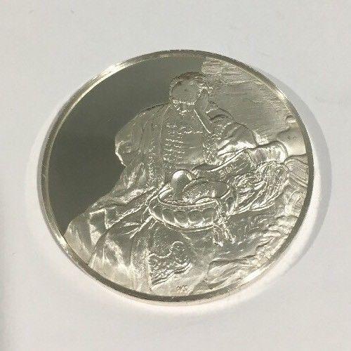 Sterling Silver Jeremiah Lamenting The Destruction Of Jerusalem Rembrandt Coin - $150.00