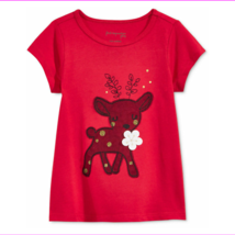 First Impressions Baby Girls' Reindeer T-Shirt, Watermelon Ice, Size 24 M - $0.98