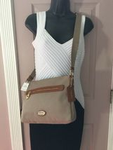 New Coach Crossbody Bag Fume Nylon F37337 Stone Brown B2A image 6