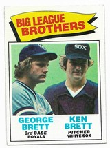 1977 Topps #631 Big League Brothers George Brett, Kansas City Royals - $2.65
