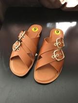 Franco Sarto Sandal Slip on Slider Size 9 Leather Upper - $34.99