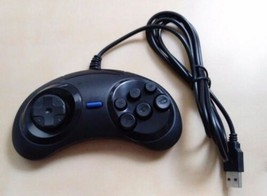 Sega Genesis Style USB Wired PC Computer Controller New Black for usb 2.... - $10.79