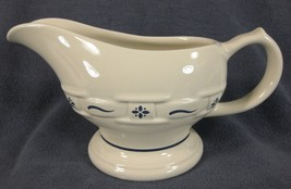 Longaberger Pottery Woven Traditions Classic Blue Gravy Boat - $67.95