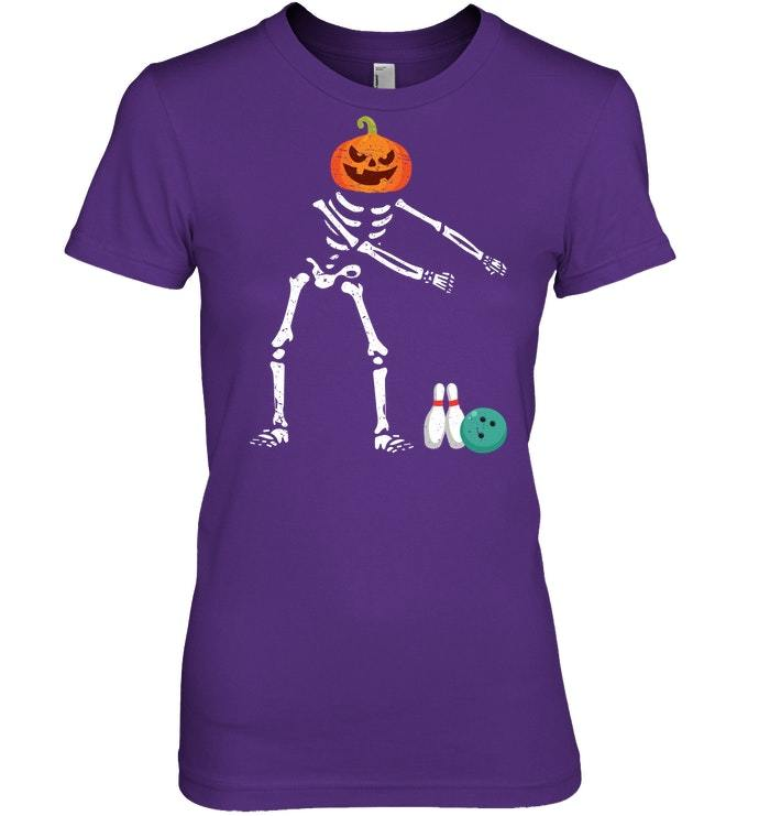 Flossing Skeleton Funny Bowling Lover Floss Tshirt